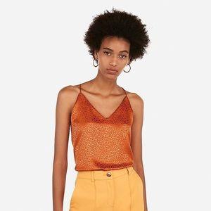 Express Orange Leopard Print Cami
